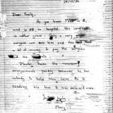 מכתב מוצפן מהכלא לחמותו של בינט בדרום אפריקה