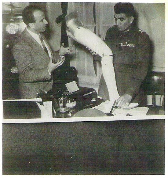 מאיר ומוחמד נג'יב Muhammad Naguib מצרים 1953