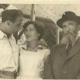 מאיר וג'ין בינט נישאים בתל- אביב 1950